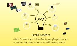 Great Leaders