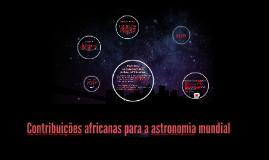 Contribuições africanas para a astronomia mundial
