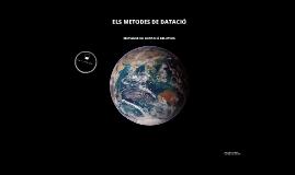 METODES DE DATACIÓ