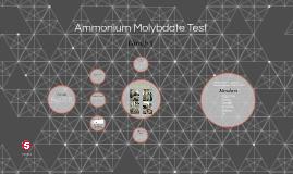 Ammonium Molybdate Test