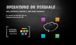 Operations on decimals