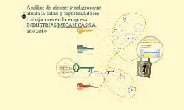 análisis de la empresa INDUSTRIAS MECANICAS S.A. en cuanto a