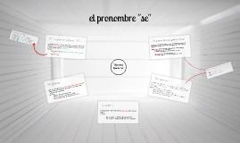 "El pronombre ""se"""