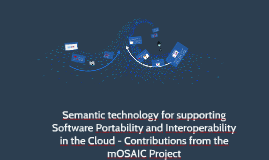 Semantic technology for supporting Software Portability and