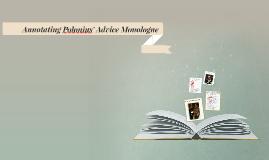 Annotating Polonius' Advice Monologue