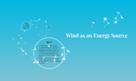 Wind as an Energy Source