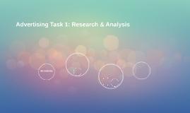 Advertising Task 1: Research & Analysis