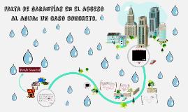 Falta de garantías en el acceso al agua