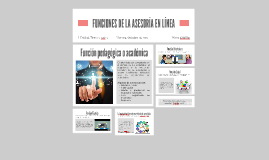 FUNCIONES DE LA ASESORÍA EN LÍNEA