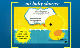 Invitación a mi Baby shower- Ale