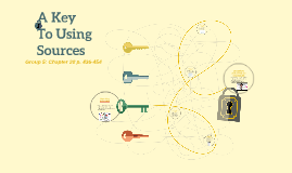 A Key To Using Sources