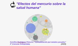 """Copy of Copy of """"Efectos del mercurio sobre la salud humana"""""""