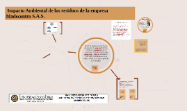 Estudio de Impacto Ambiental de la empresa Madecentro S.A.S,