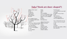"""Tula (""""Book are door-shaped"""")"""