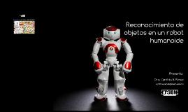 reconocimiento objetos mediante un robot humanoide
