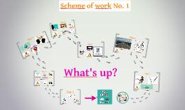 Scheme of Work No. 1