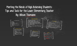 Tips and Tools for the Lower Elementary Teacher