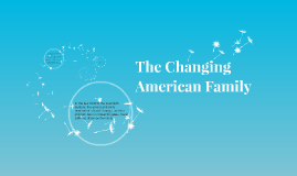 The Changing American Family