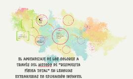 """el aprendizaje de los colores a través del metodo de """"respue"""