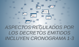 ASPECTOS REGULADOS POR LOS DECRETOS EMITIDOS INCLUYEN CRONOG