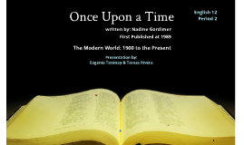 an analysis of once upon a time by nadine gordimer
