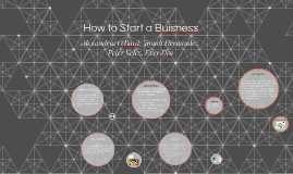 How to Start a Buisness