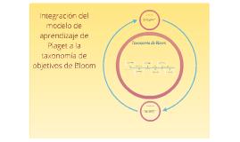 Integración del modelo de aprendizaje de Piaget a la taxonom