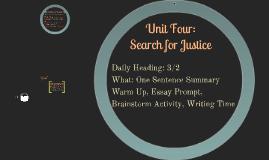 Unit Four: 3/2