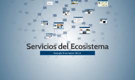 Servicios del Ecosistema