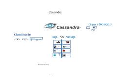 NOSQL com Cassandra