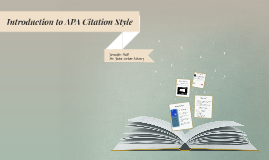 Copy of Introduction to APA Citation Style