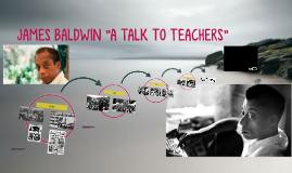james baldwin a talk to teachers