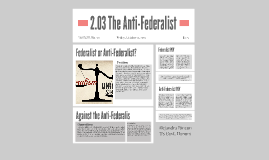 2.03 The Anti-Federalist