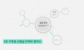 5조 서호영 신형섭 안재찬 황희수