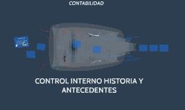 CONTROL INTERNO HISTORIA Y