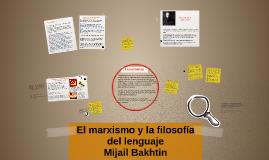 El marxismo y la filosofía del lenguaje
