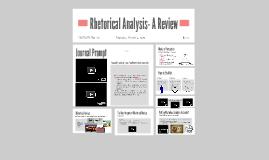 Rhetorical Analysis- A Review