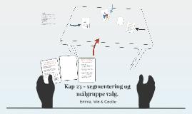 Kap 23 - segmentering og målgruppe valg.