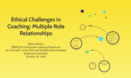 Copy of Ethical Challenges in Coaching: Multiple Role Relat