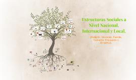 Estructuras Sociales a Nivel Nacional, Internacional y Local
