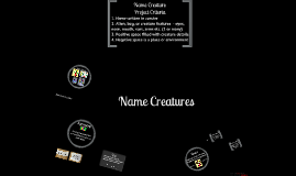 Name Creatures