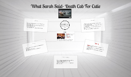What Sarah Said- Death Cab For Cutie