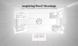 Acquiring Word Meanings