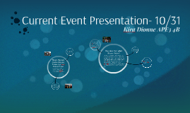 Current Event Presentation- 10/31