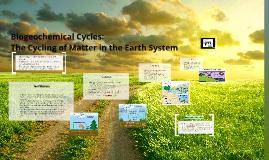 Biogeochemical Cycles: