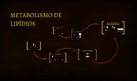 METABOLISMO DE LIPÍDIOS