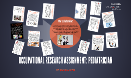 OCCUPATIONAL RESEARCH ASSIGNMENT: PEDIATRICIAN