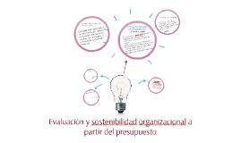 Evaluación y sostenibilidad organizacional a