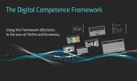 Digital Competence Framework: Maths and Numeracy