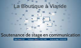 Soutenance de stage en communication